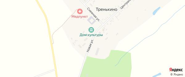 Новая улица на карте деревни Тренькино с номерами домов