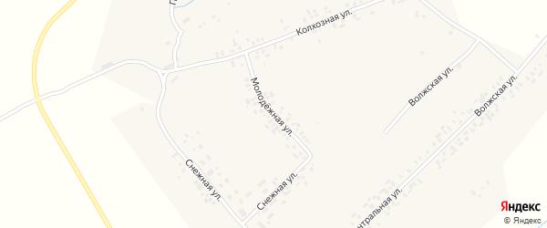 Молодежная улица на карте Магазейной деревни с номерами домов