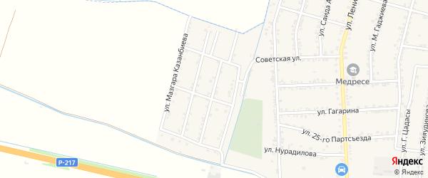 Улица Курамагомеда Рамазанова на карте села Зубутли-Миатли с номерами домов