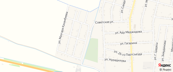 Улица Саидмухаммада Абубакарова на карте села Зубутли-Миатли с номерами домов