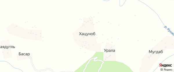 Хацонобская улица на карте хутора Хацуноба с номерами домов