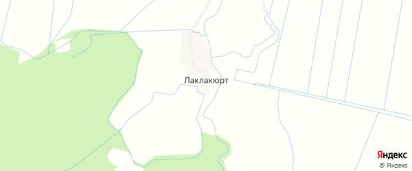 Карта села Лаклакюрта в Дагестане с улицами и номерами домов