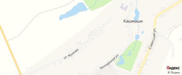 Улица Ярикова на карте деревни Кашмашей с номерами домов