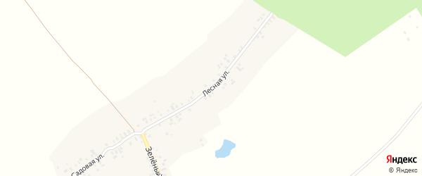 Лесная улица на карте деревни Хундыкас с номерами домов