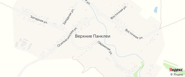 Восточная улица на карте деревни Верхние Панклеи с номерами домов