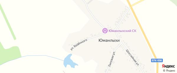 Шоссейная улица на карте села Юманлыхи с номерами домов