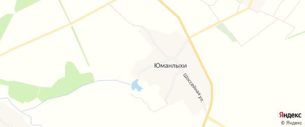 Карта села Юманлыхи в Чувашии с улицами и номерами домов