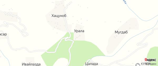 Уралинская улица на карте хутора Уралы с номерами домов