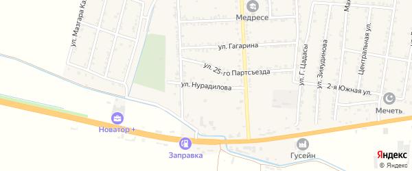 Улица Нурадилова на карте села Зубутли-Миатли с номерами домов
