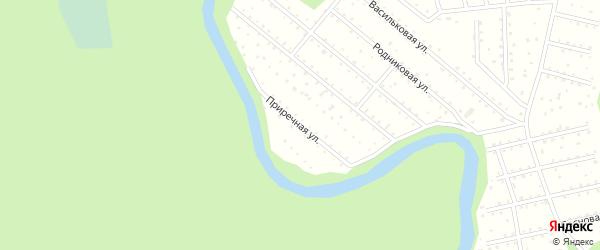 Приречная улица на карте поселка СОТА Автомобилиста-1 с номерами домов