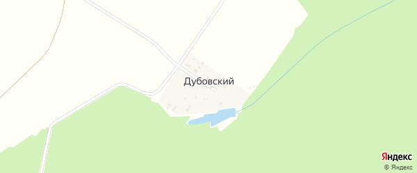 Лесная улица на карте Дубовского поселка с номерами домов