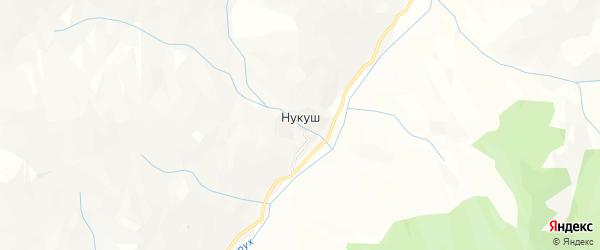 Карта села Нукуша в Дагестане с улицами и номерами домов