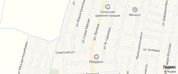 Улица Чехова на карте села Зубутли-Миатли с номерами домов