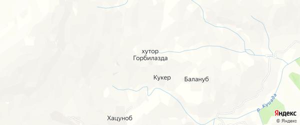 Карта хутора Горбилазды в Дагестане с улицами и номерами домов