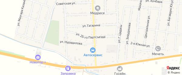 Улица Партсъезда на карте села Зубутли-Миатли с номерами домов