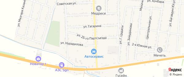 Улица 25 Партсъезда на карте села Зубутли-Миатли с номерами домов