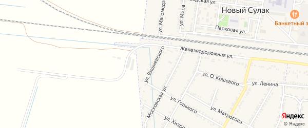 Улица Вишневского на карте села Зубутли-Миатли с номерами домов