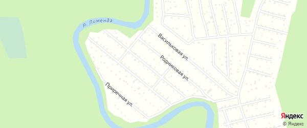 Солнечная улица на карте поселка СОТА Восхода-1 с номерами домов