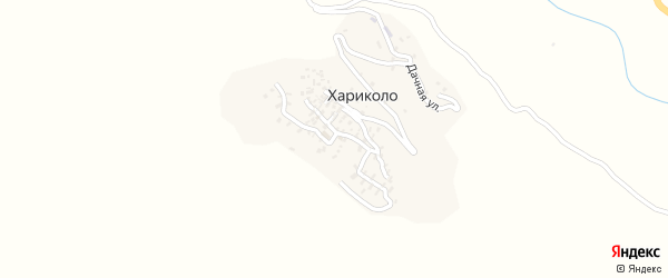 Улица Родникова на карте села Хариколо с номерами домов