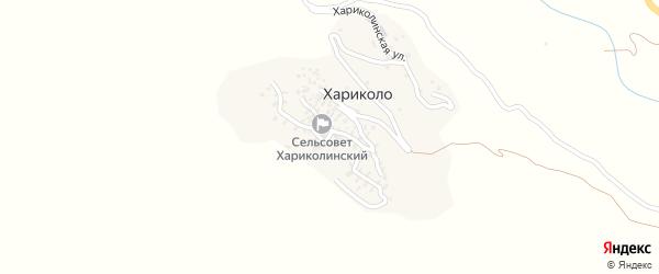 Дачная улица на карте села Хариколо с номерами домов