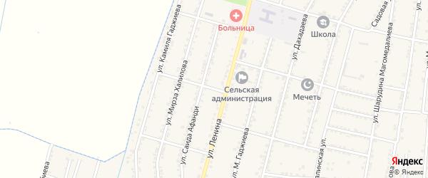 Улица Кирова на карте села Зубутли-Миатли с номерами домов