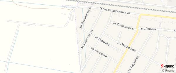 Московская улица на карте села Султанянгиюрта с номерами домов