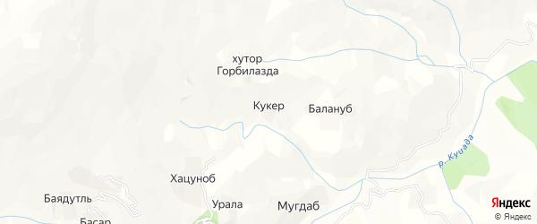 Карта хутора Кукера в Дагестане с улицами и номерами домов