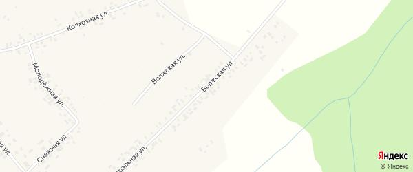 Волжская улица на карте деревни Тренькино с номерами домов