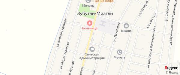 Улица Ленина на карте села Миатли с номерами домов