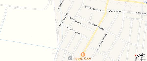Улица Хизроева на карте села Зубутли-Миатли с номерами домов