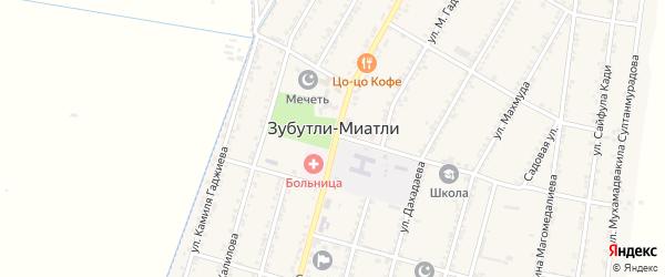 1-й микрорайон на карте села Зубутли-Миатли с номерами домов