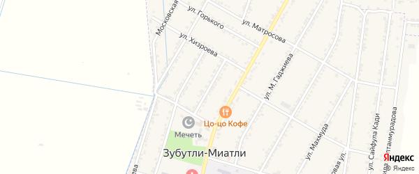 Улица Исмаилгаджи Дарбишова на карте села Зубутли-Миатли с номерами домов