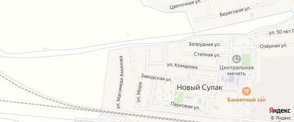 Батырая улица на карте поселка Нового Сулака с номерами домов
