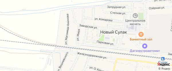 Улица Казбекова на карте села Зубутли-Миатли с номерами домов