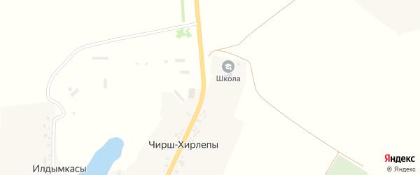 Шоссейная улица на карте деревни Чирша-Хирлепы с номерами домов