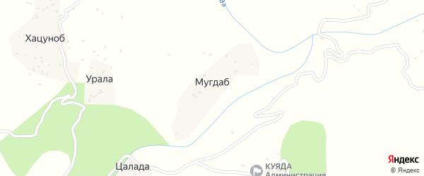 Мугдабская улица на карте хутора Мугдаба с номерами домов