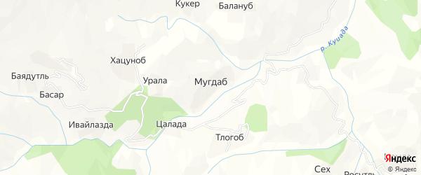 Карта хутора Мугдаба в Дагестане с улицами и номерами домов