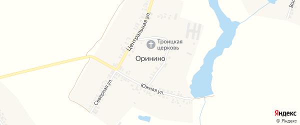 Северная улица на карте села Оринино с номерами домов