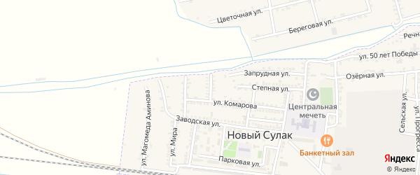Терская улица на карте поселка Нового Сулака с номерами домов