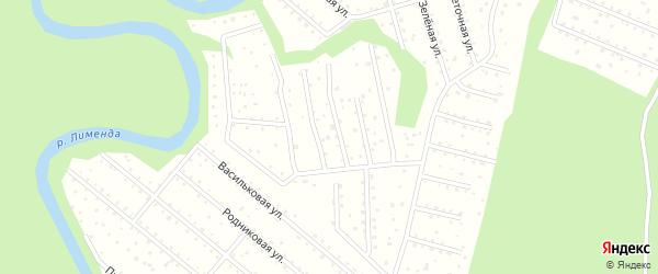 Придорожная улица на карте поселка СКТ Авиатора-2 с номерами домов