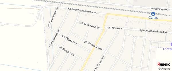 Улица Гайдара на карте села Зубутли-Миатли с номерами домов