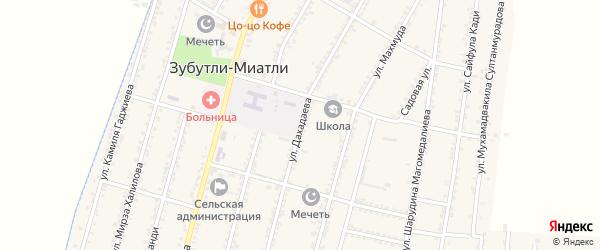 Улица Дахадаева на карте села Зубутли-Миатли с номерами домов