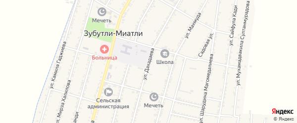 Улица Дахадаева на карте села Султанянгиюрта с номерами домов