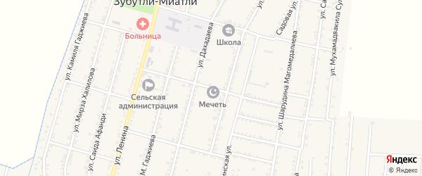 Улица Пушкина на карте села Миатли с номерами домов
