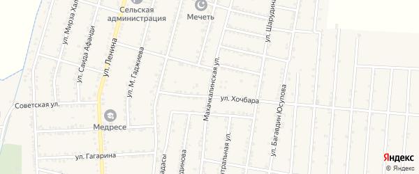 Махачкалинская улица на карте села Зубутли-Миатли с номерами домов