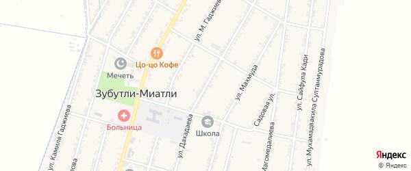 Улица Дахадаева на карте села Миатли с номерами домов