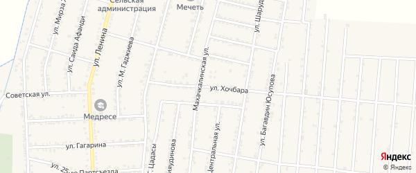Улица Хочбара на карте села Зубутли-Миатли с номерами домов