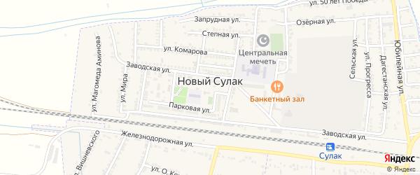 Улица Магомеда Гаджиева на карте поселка Нового Сулака с номерами домов