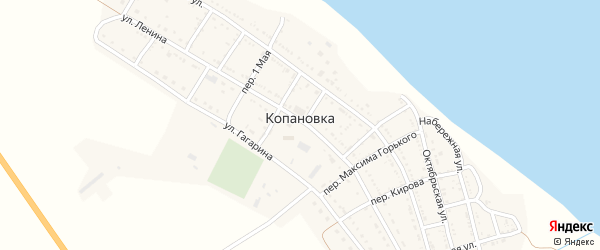 Школьный переулок на карте села Копановки с номерами домов