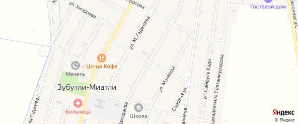 Дагестанская улица на карте села Зубутли-Миатли с номерами домов